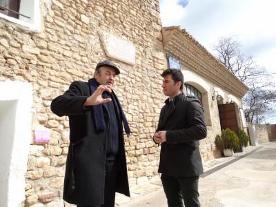 Ángel Orensanz e Imanol Sánchez en Fuendetodos