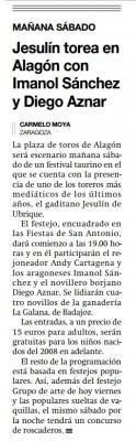 Columna Jesulin en Alagon. El Periodico de Aragon